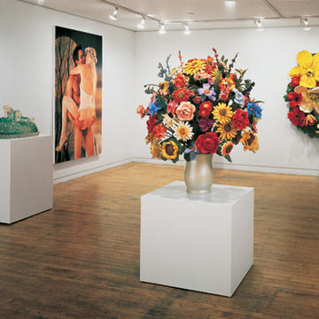 Made In Heaven, de Jeff Koons. Vista de sala en Sonnabend Gallery, NY.